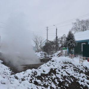 фото В Тверь вновь произошел прорыв на магистральном трубопроводе
