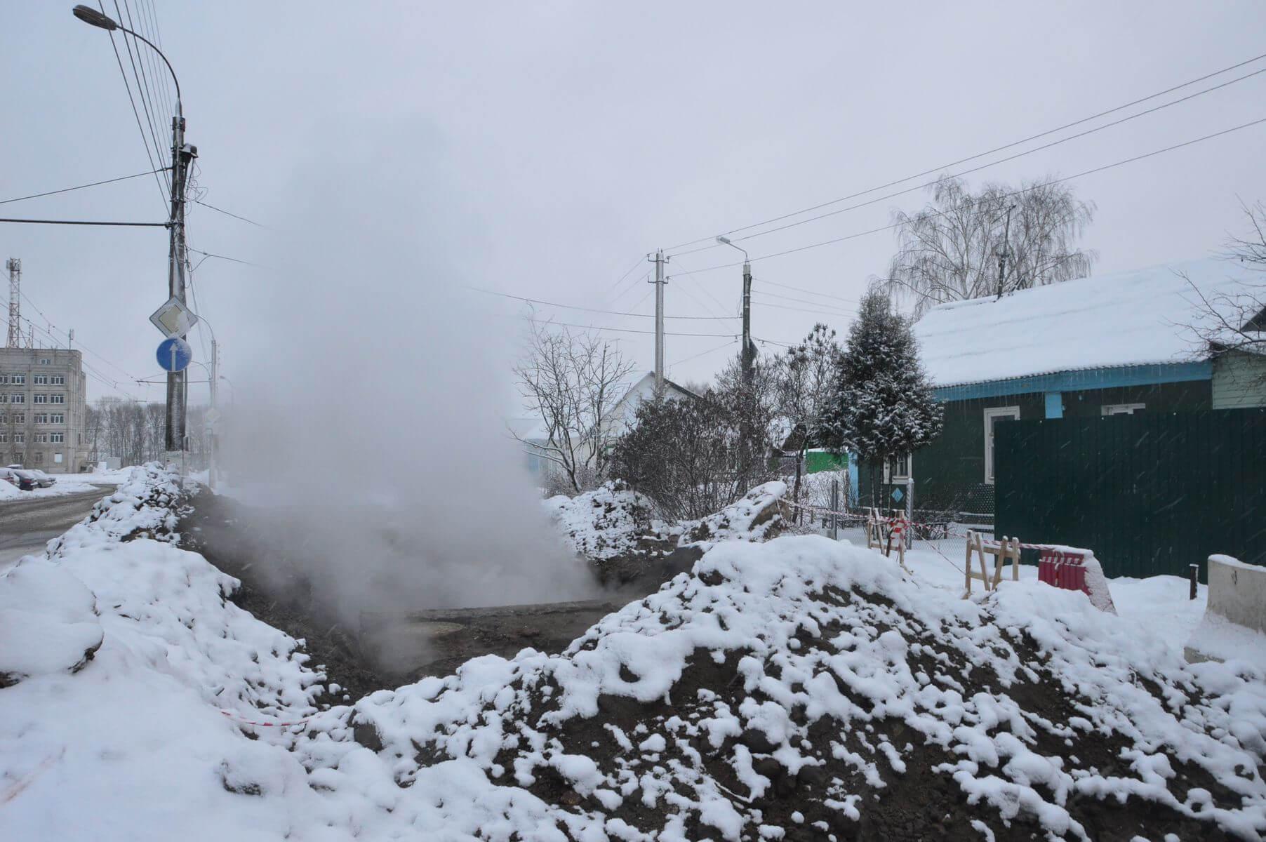 В Тверь вновь произошел прорыв на магистральном трубопроводе