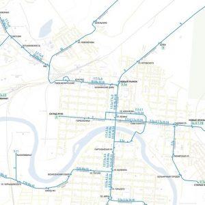 фото В сети появились схемы общественного транспорта городов Тверской области