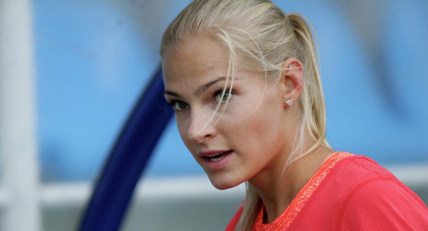 Дарья Клишина - победительница открытого чемпионата Латвии по легкой атлетике в помещении