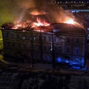 фото В сети появилось видео пожара, произошедшего в детской областной больнице
