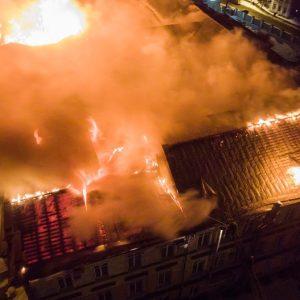 фото В детской областной больнице, пострадавшей после ночного пожара, возобновилось открытое горение