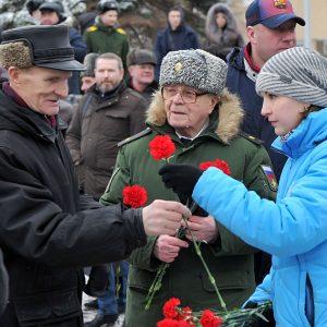 фото В Твери прошел торжественный митинг в честь Дня защитника Отечества