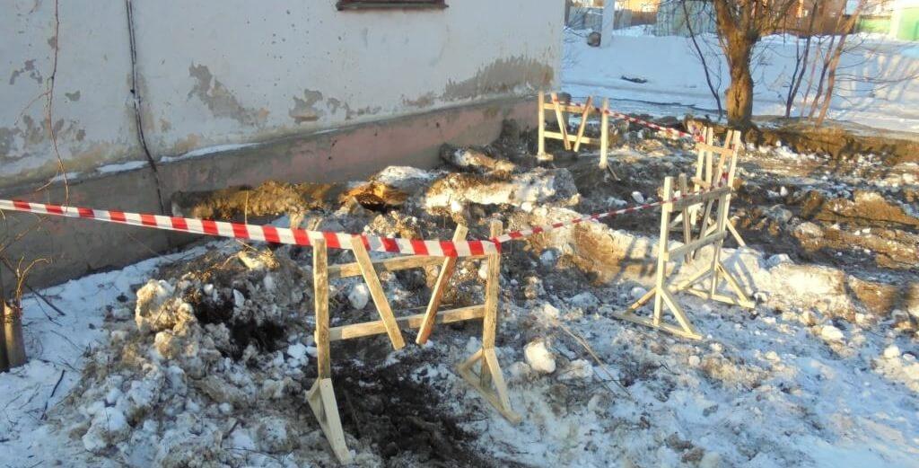 В Твери заменили участок бесхозного водопровода по улице Лермонтова