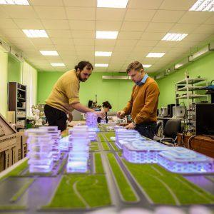 """фото 3D-макеты """"Тверь Сити"""" и """"Тверь Экспо"""" для форума в Сочи изготовили в тверском центре молодежного инновационного творчества"""