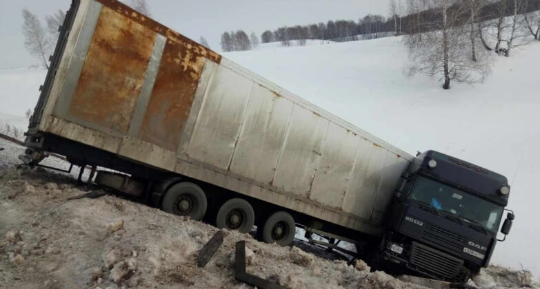 В Оренбуржье водитель из Тверской области бросил на дороге фуру с тиграми