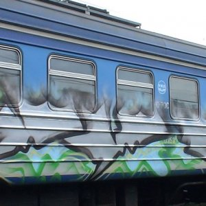 фото На Октябрьской железной дороге от вандалов за год пострадало более 1200 вагонов
