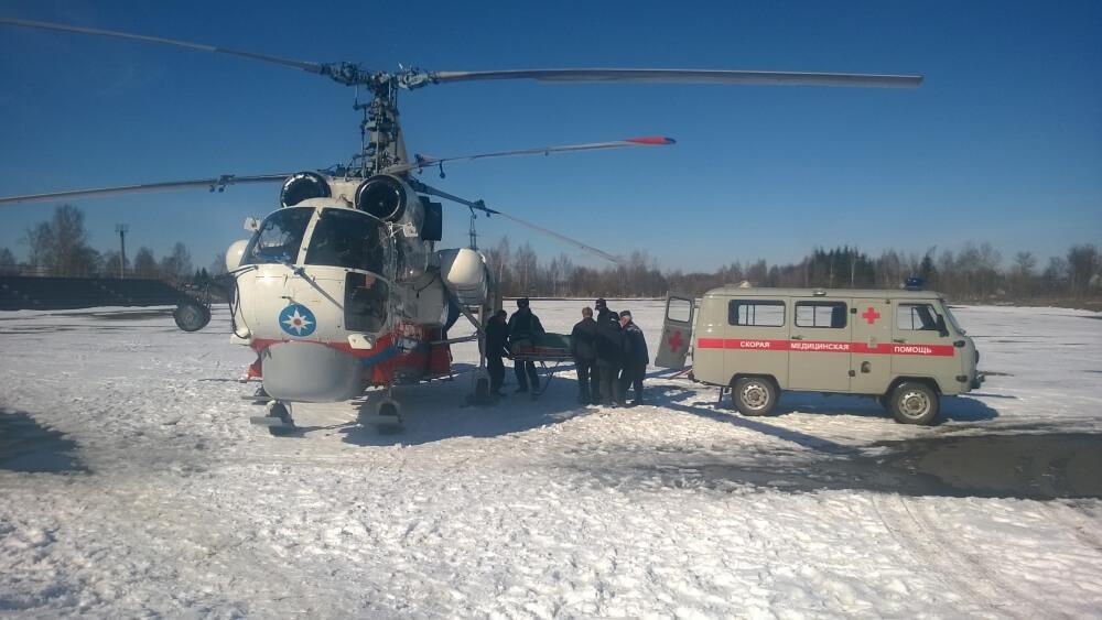 Санитарный вертолет МЧС совершил вылет для оказания неотложной помощи мужчине в Кашинском районе