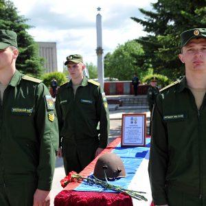 фото В Тверской области состоялось захоронение останков бойца Красной Армии Сергея Бобрикова, переданных из Эстонии