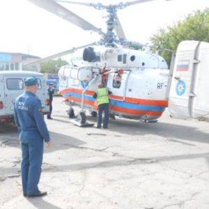 фото Для оказания экстренной помощи мужчине в Максатихинском районе привлекли санитарный вертолет МЧС