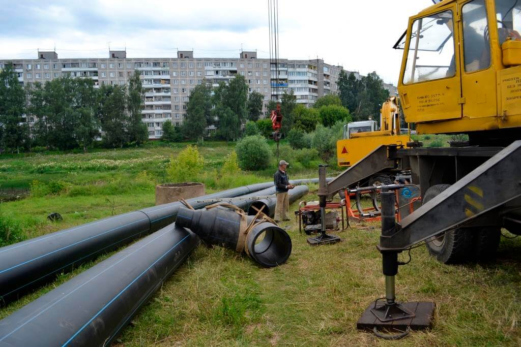 «Тверь Водоканал» приступил к замене участка водовода в Пролетарском районе
