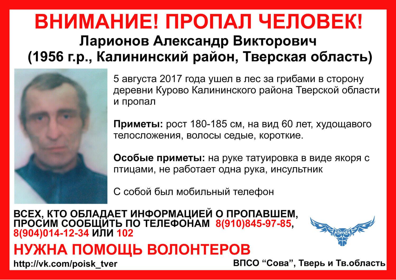 Продолжаются поиски пожилого мужчины, который ушел в лес в Калининском районе и пропал