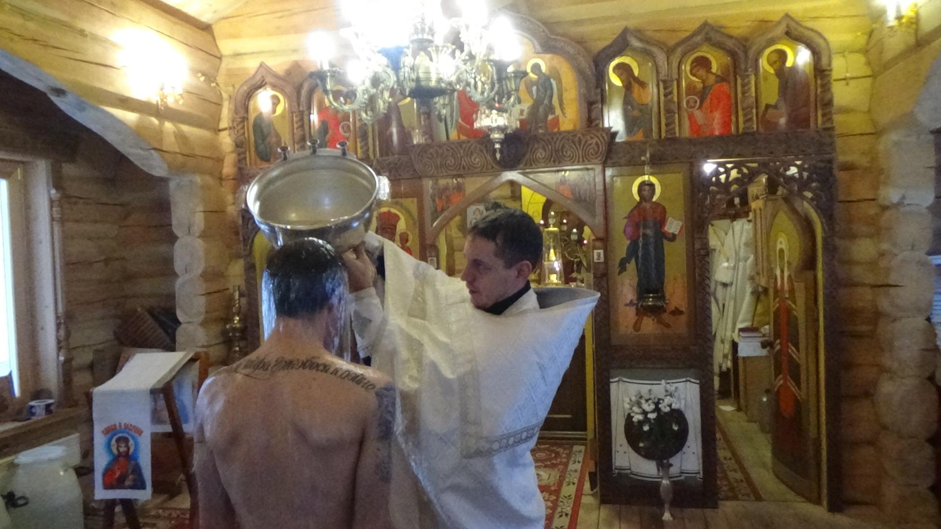 На территории Тверского СИЗО впервые провели обряд крещения