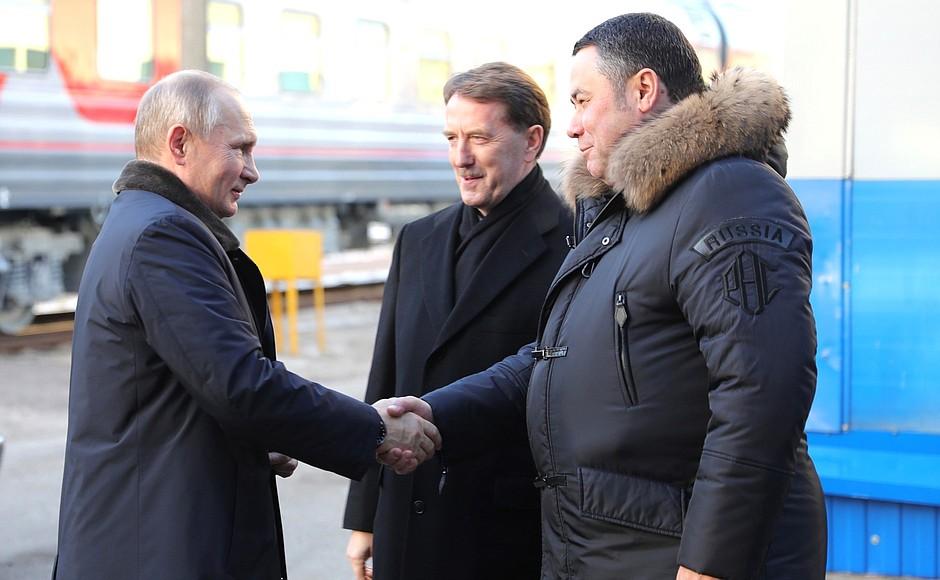 Владимир Путин посетил Тверь с деловым визитом