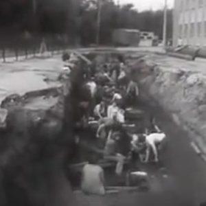 Археологические раскопки в городе Калинине в 1985 году