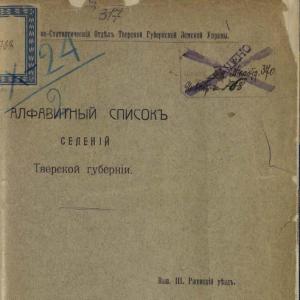 скачать книгу Алфавитный список селений Тверской губернии