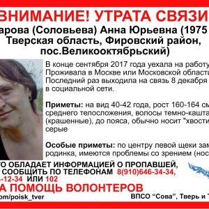 фото Волонтеры разыскивают без вести пропавшую Анну Макарову