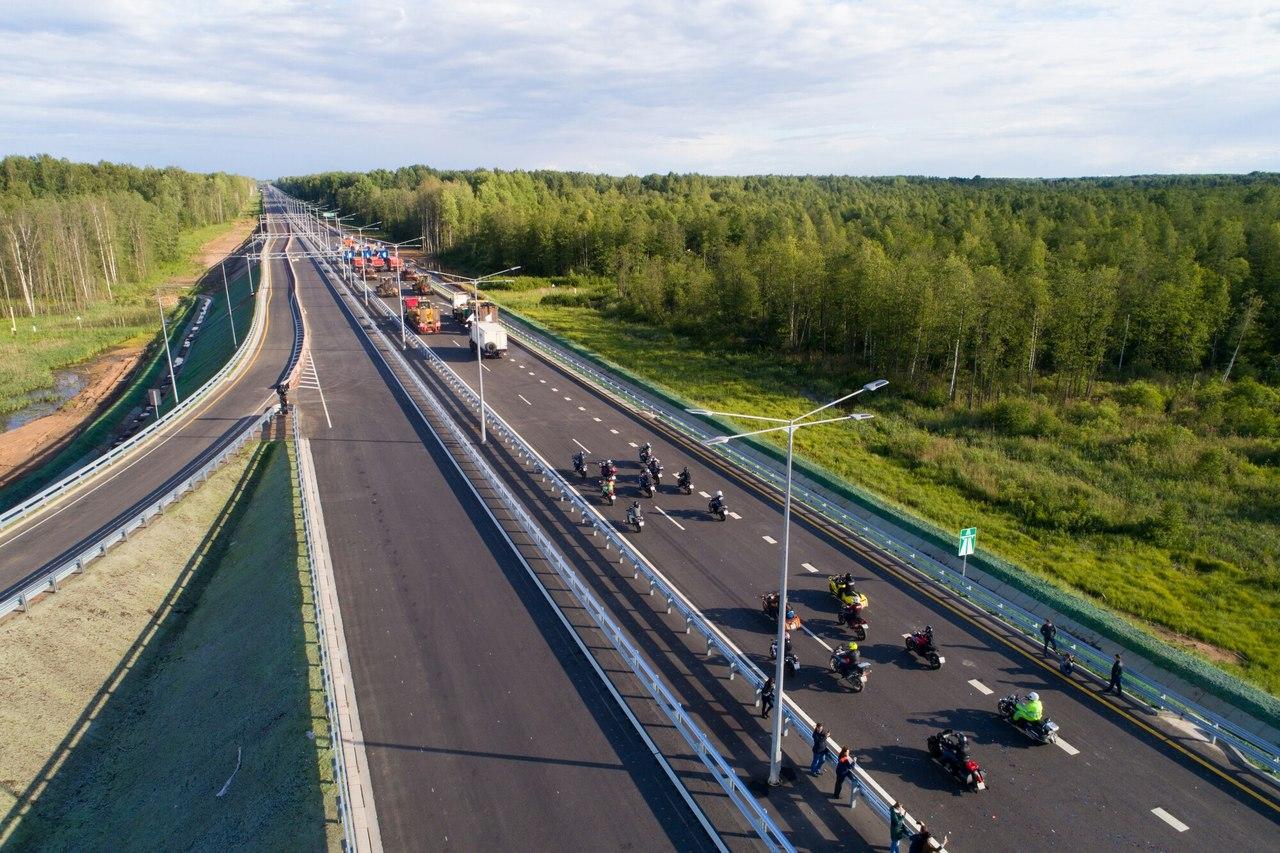 Более 30 тысяч транспортных средств проехало по новому сквозному участку трассы М-11 «Москва-Санкт-Петербург» за три дня