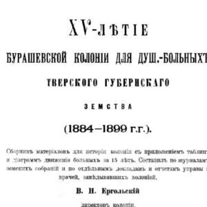 скачать книгу XV-летие Бурашевской колонии для душевнобольных Тверского губернского Земства