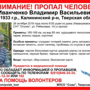 фото [Найден, жив] Пропавший под Тверью пожилой мужчина может находиться в Твери