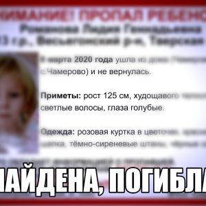 фото Пропавшая в Тверской области девочка погибла