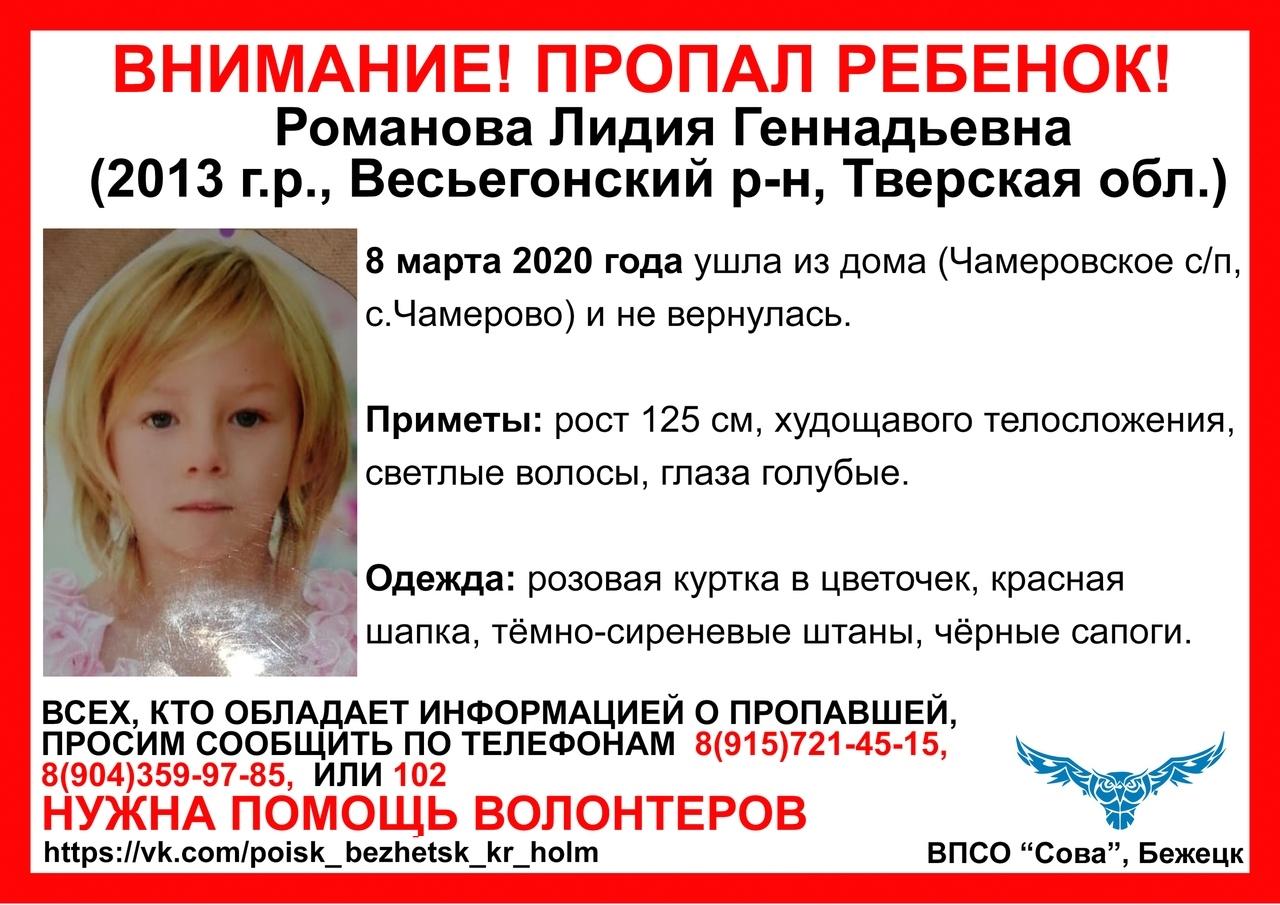 В Тверской глубинке пропала 7-летняя девочка