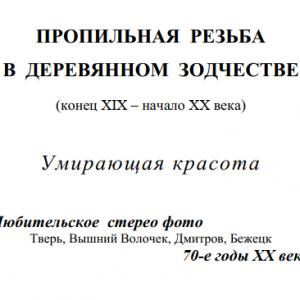 скачать книгу Пропильная резьба в деревянном зодчестве (конец XIX – начало XX века)