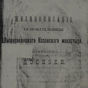 скачать книгу Жизнеописание основательницы Вышневолоцкого казанского монастыря игумении Досифеи