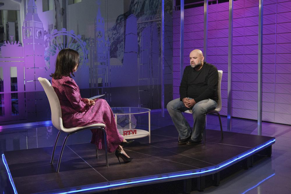 Денис Проценко рассказал Тине Канделаки на RTVI о второй волне коронавируса в России